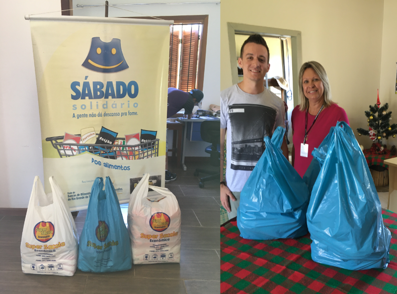 Guaíba Online realiza doação de 50 kg de alimentos e roupas para instituições locais