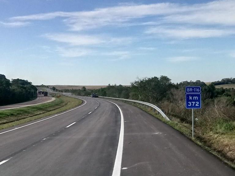 DNIT libera mais 9,7 quilômetros de pista duplicada na BR-116, entre Tapes e Sentinela do Sul