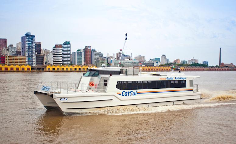 Horários do Catamarã CatSul para travessia Guaíba - Porto Alegre