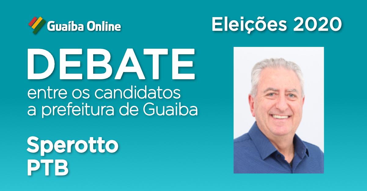 Assista às respostas de Sperotto no Debate do Guaíba Online com os candidatos a prefeitura de Guaíba