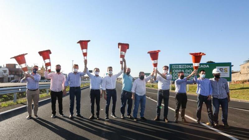 Inaugurada a duplicação da ERS-118, entre a BR-116 em Sapucaia do Sul e freeway em Gravataí