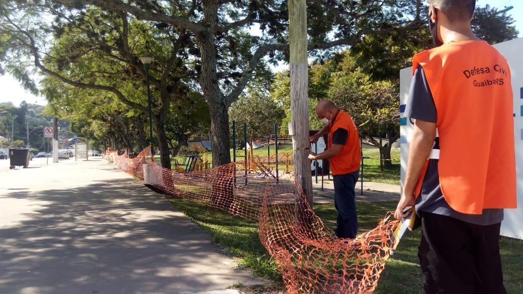 Praças e parques de Guaíba são fechados como medida de prevenção ao coronavírus