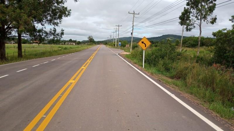 Pavimentação da ERS-713 no acesso à cidade de Sertão Santana é concluída