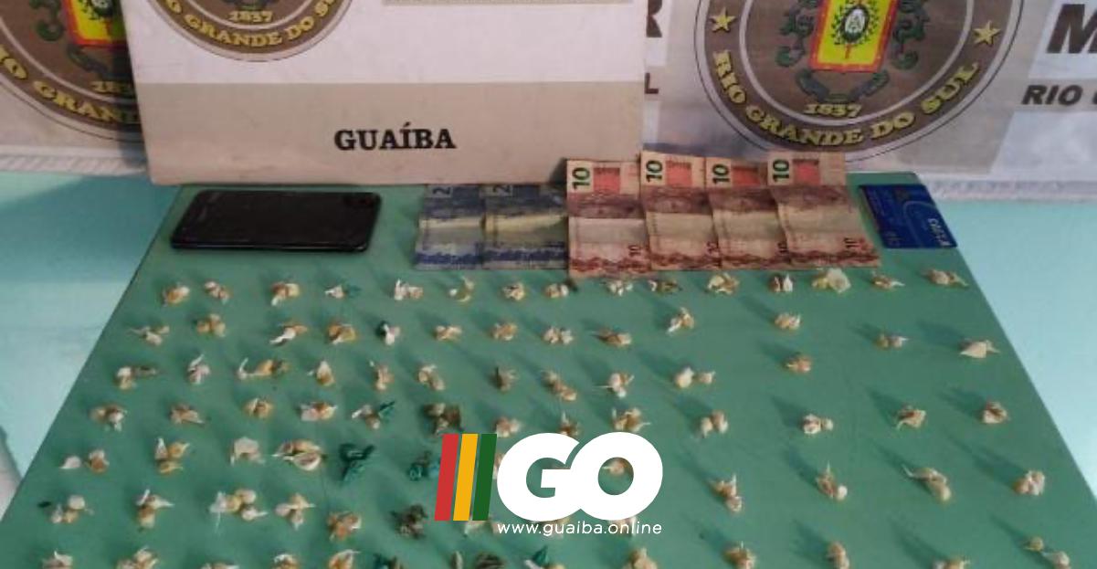 BM de Guaíba prende homem com 257 pedras de crack no bairro Cohab Santa Rita