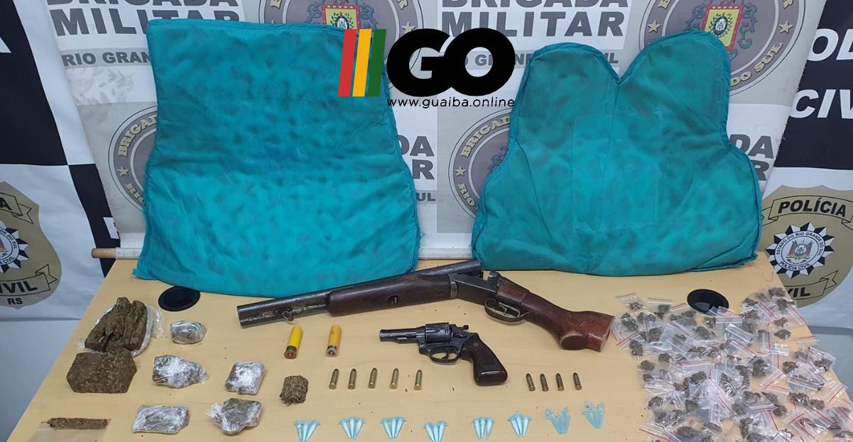 BM prende quatro indivíduos com armas e drogas que estão ligados a homicídio em Guaíba