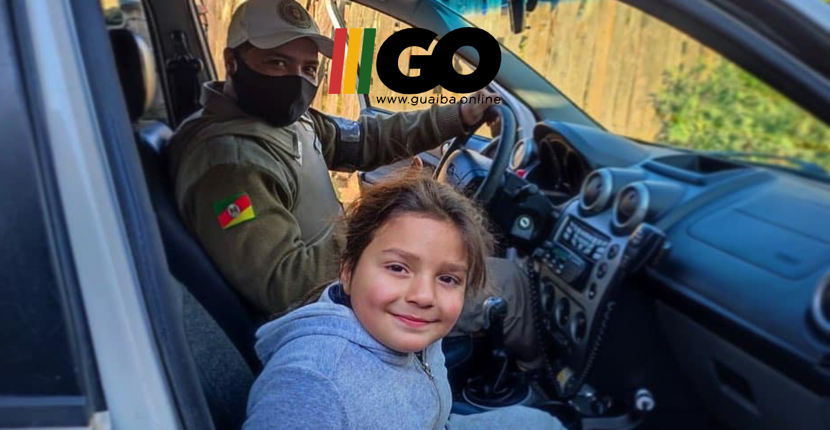 Brigada Militar de Guaíba realiza sonho de menino no dia de seu aniversário